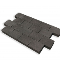 Charcoal Cobblestone Paving